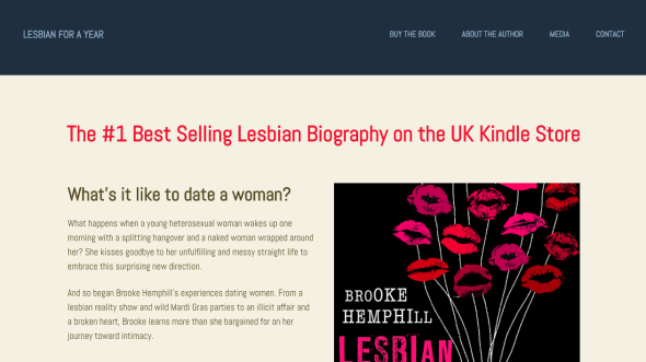 Lesbian for a Year Website